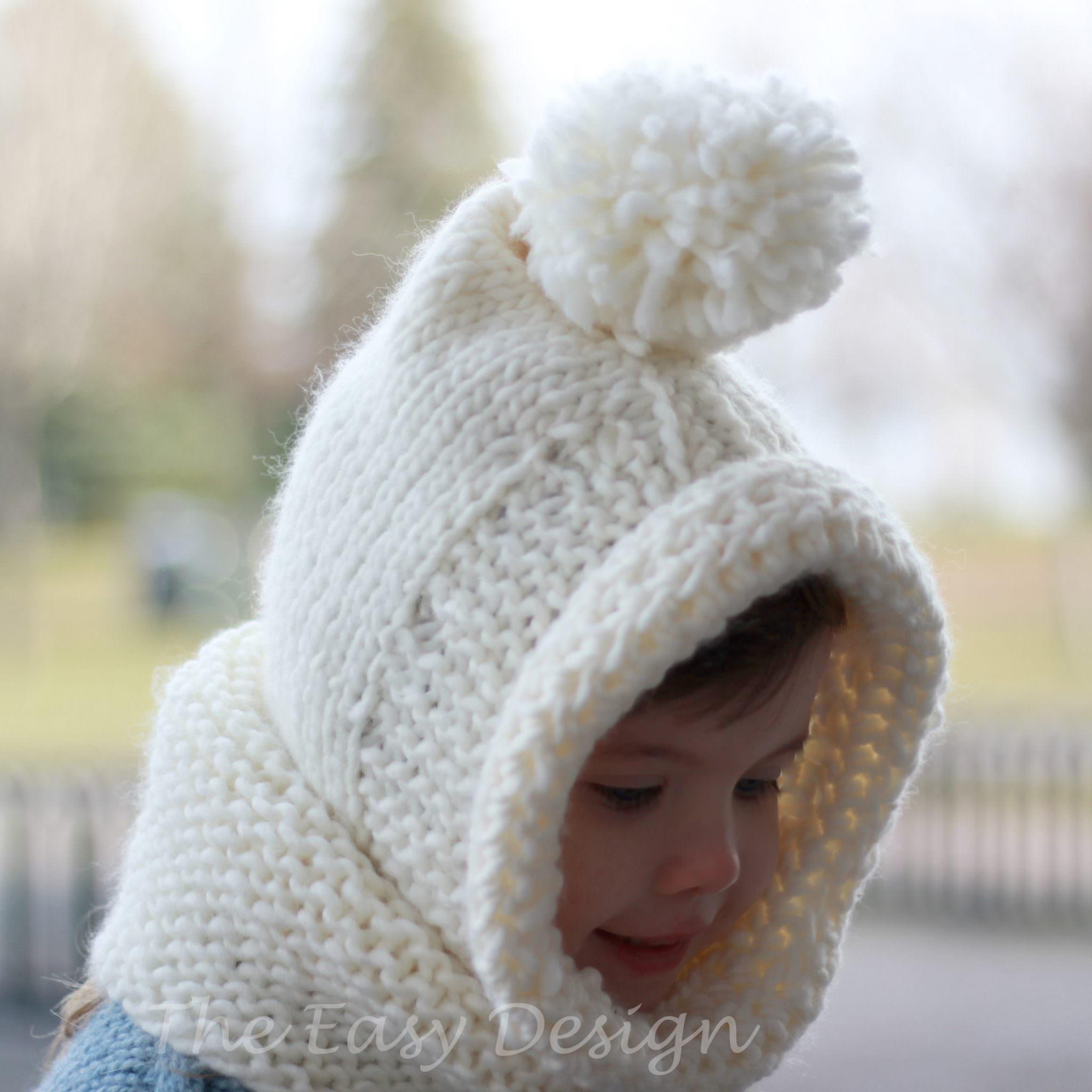Bambi Hooded Cowl - Knitting pattern - The Easy Design