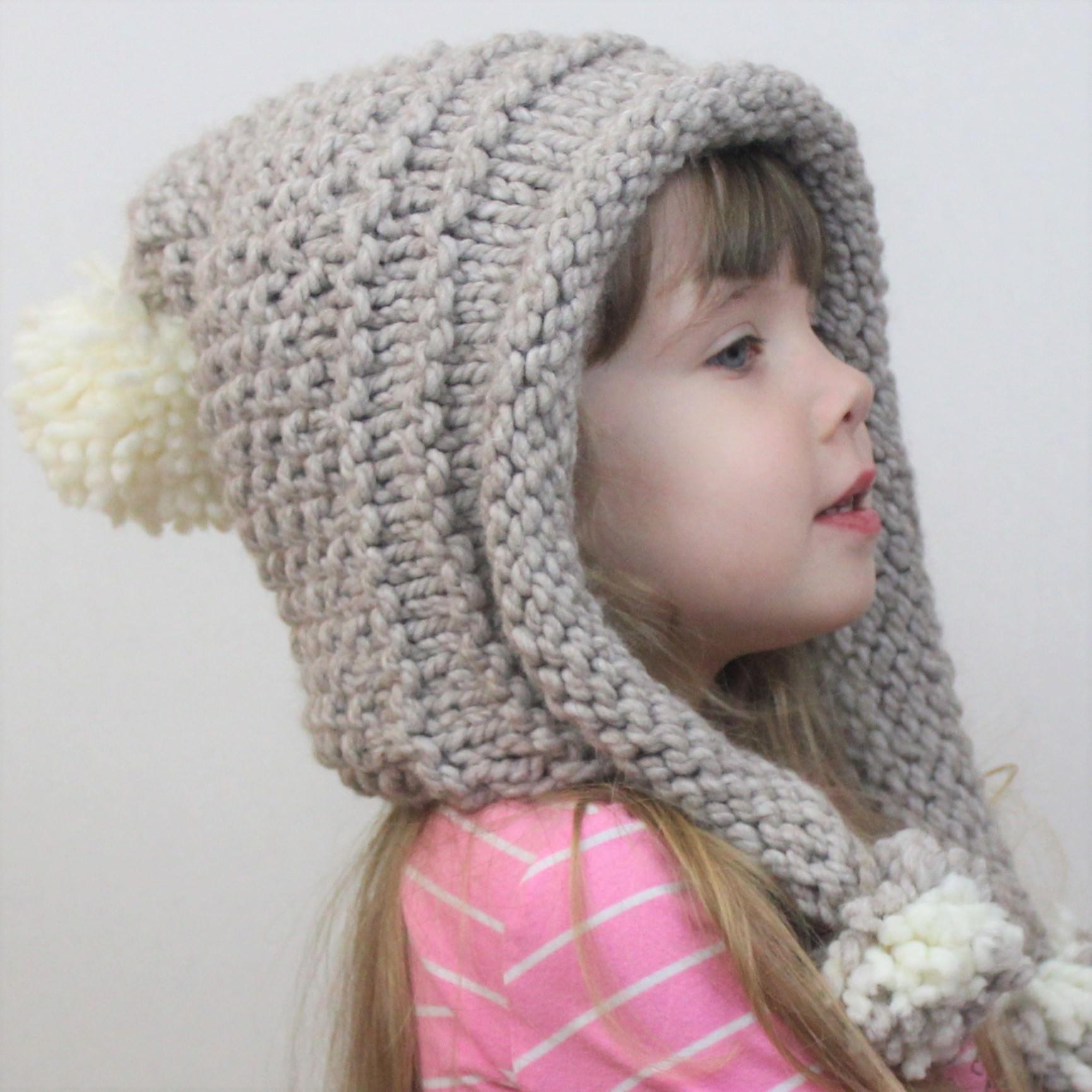 Eva Earflap Hat Knitting Pattern The Easy Design