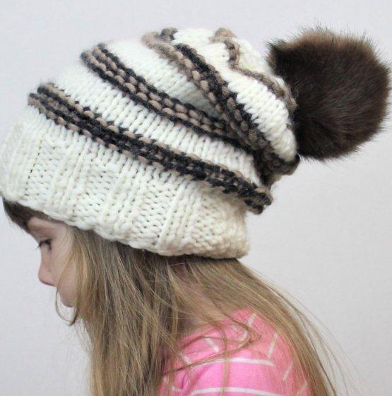 Nayeli / Slouchy hat - knitting pattern - The Easy Design