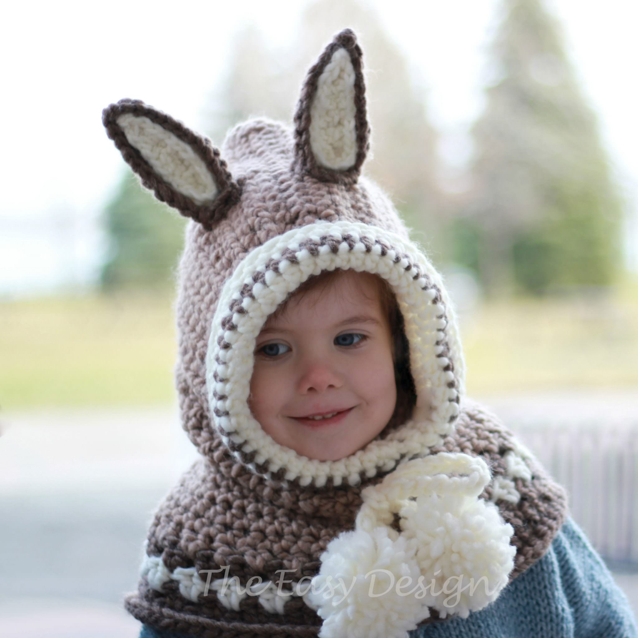 Ruby Rabbit Hooded Cowl Crochet Pattern The Easy Design