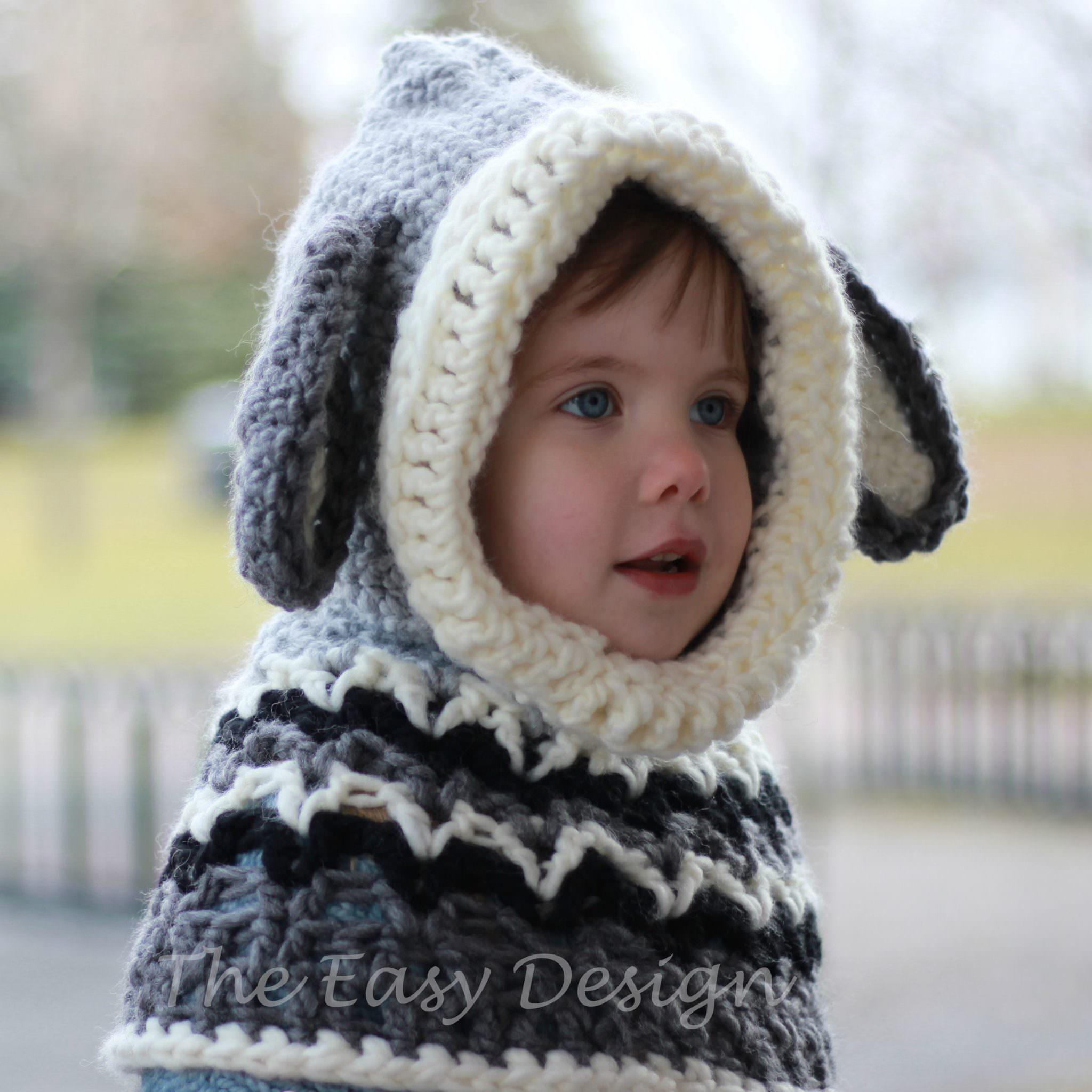 Dean Dog Hooded Cowl Crochet Pattern The Easy Design