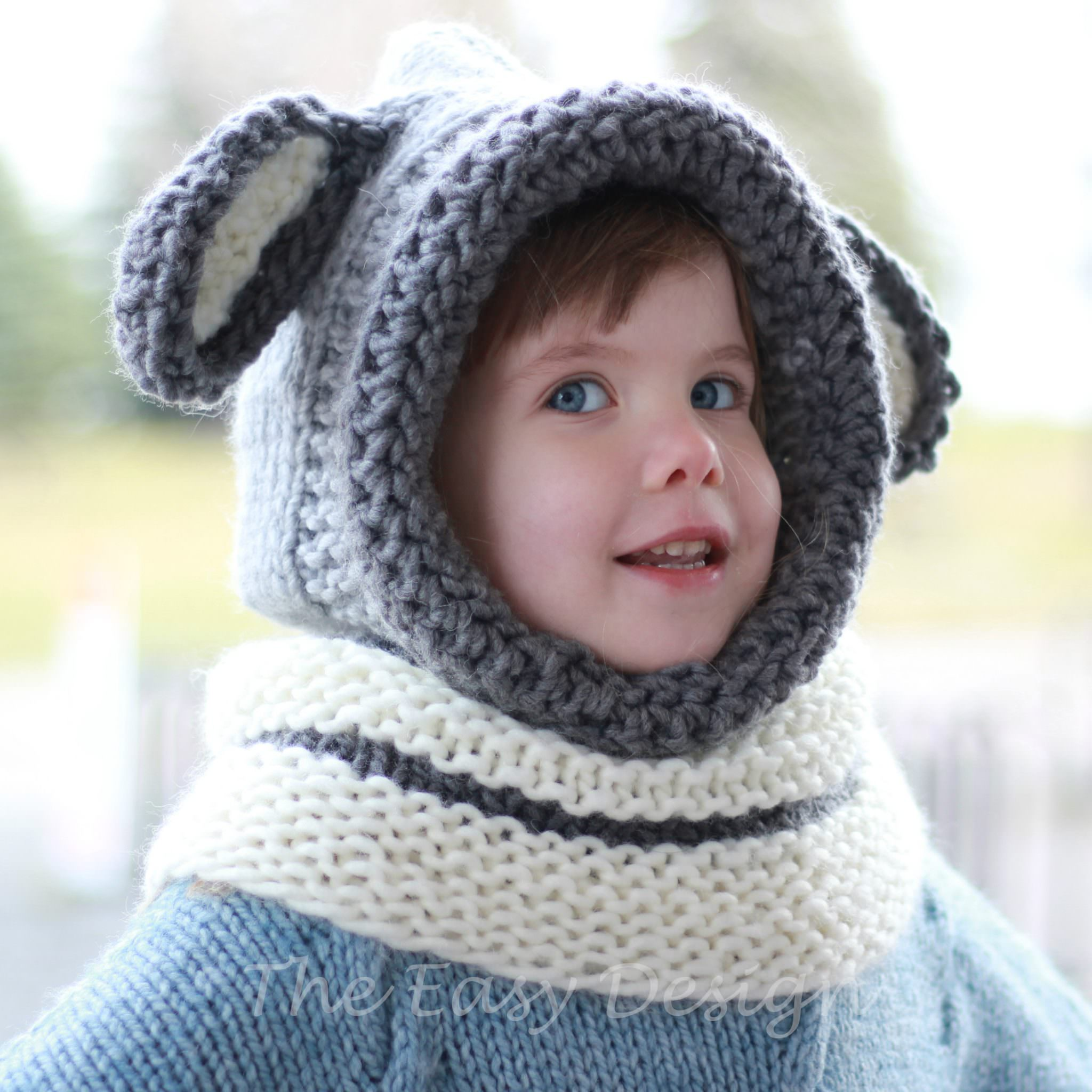 David Dog / Hooded Cowl - Knitting pattern - The Easy Design