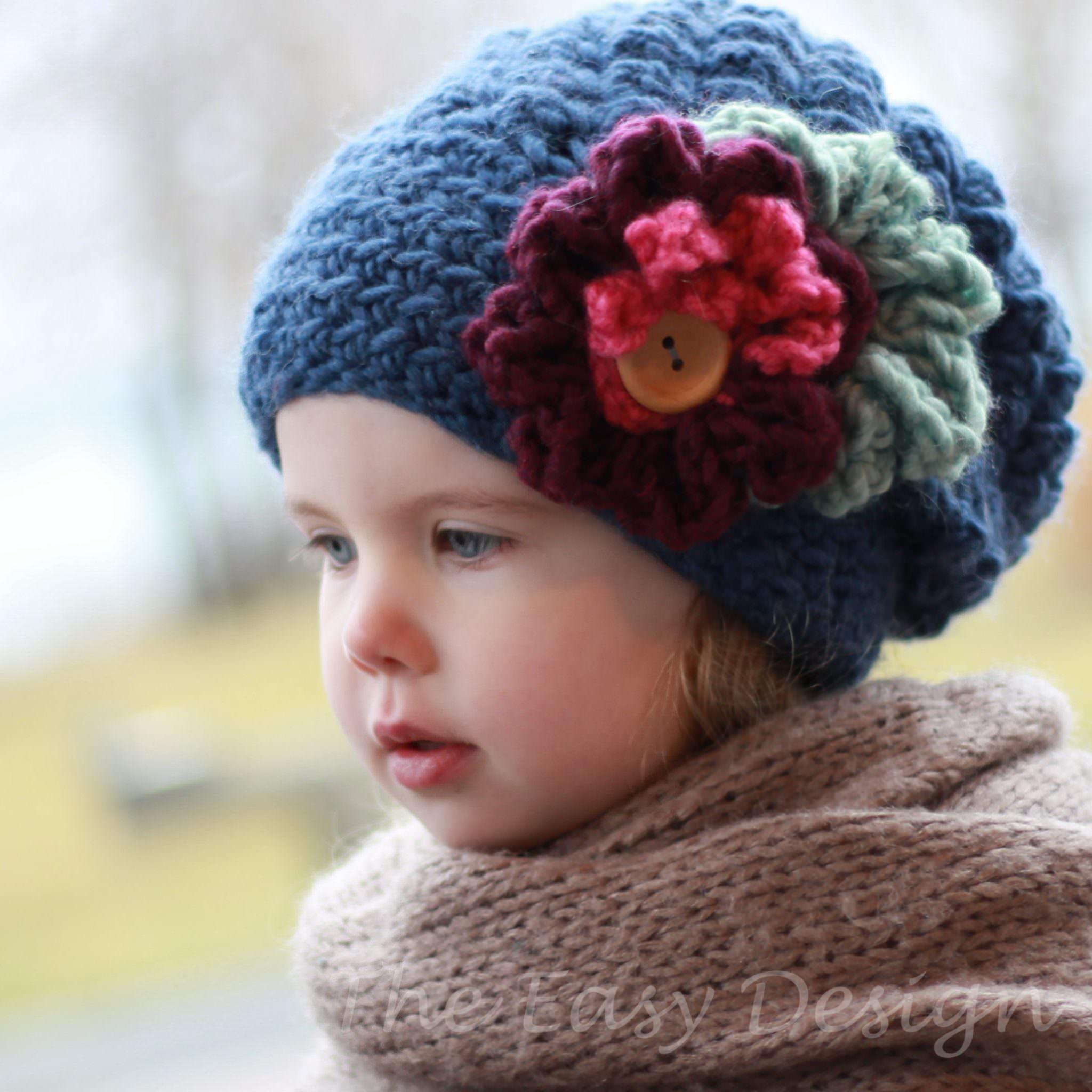 Emma Sloucy Hat B 233 Ret Crochet Pattern The Easy Design