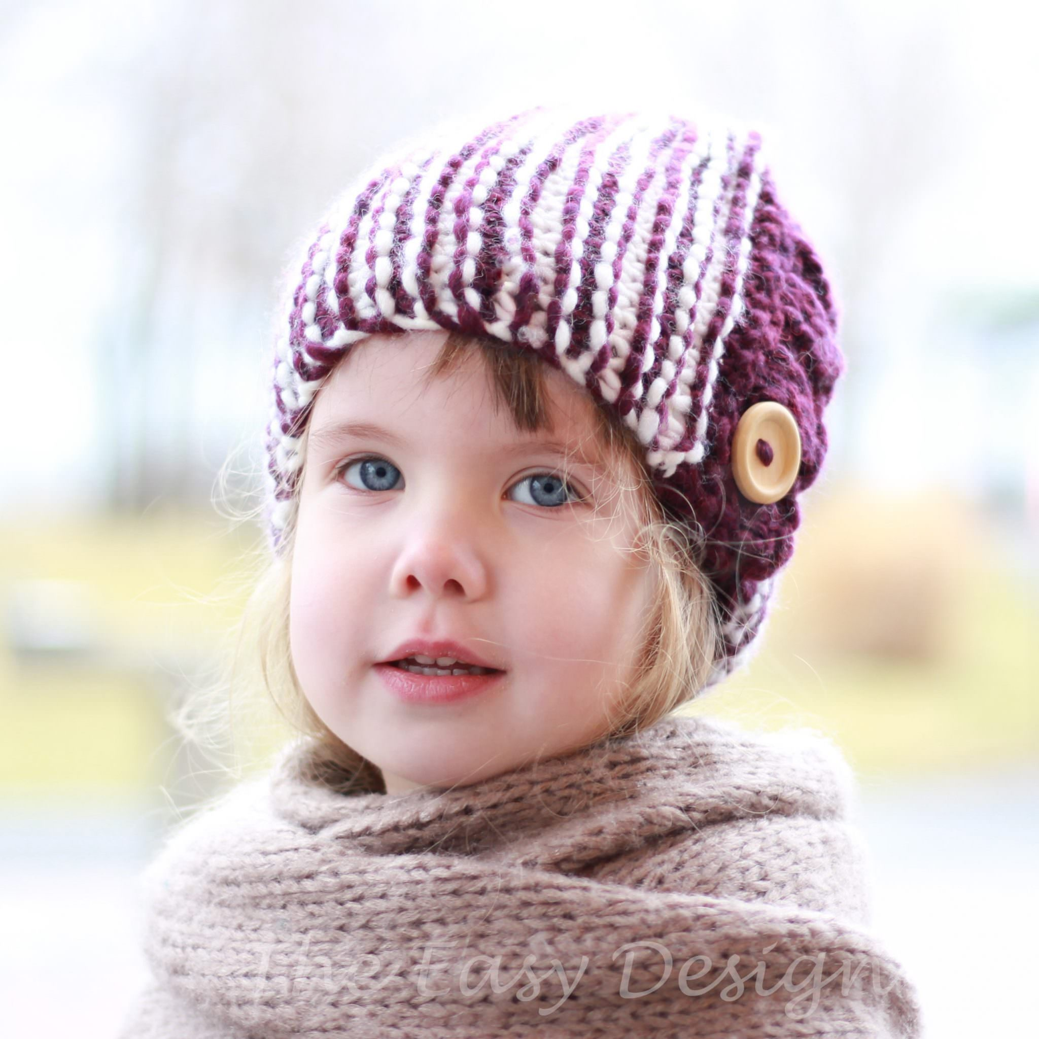 GRACE / CLOCHE HAT - KNITTING PATTERN - The Easy Design