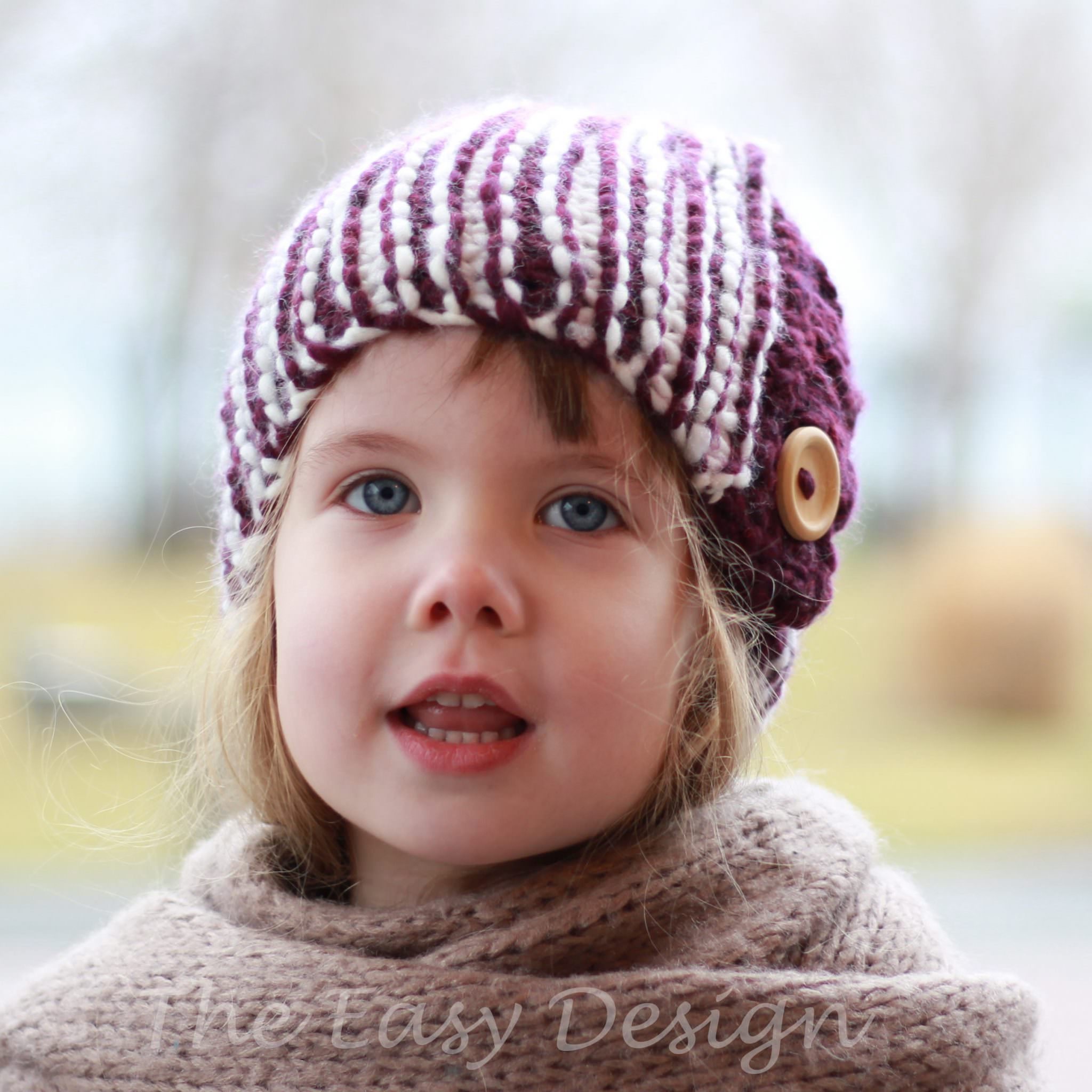 Cloche Hat Pattern Knitting : GRACE / CLOCHE HAT - KNITTING PATTERN - The Easy Design