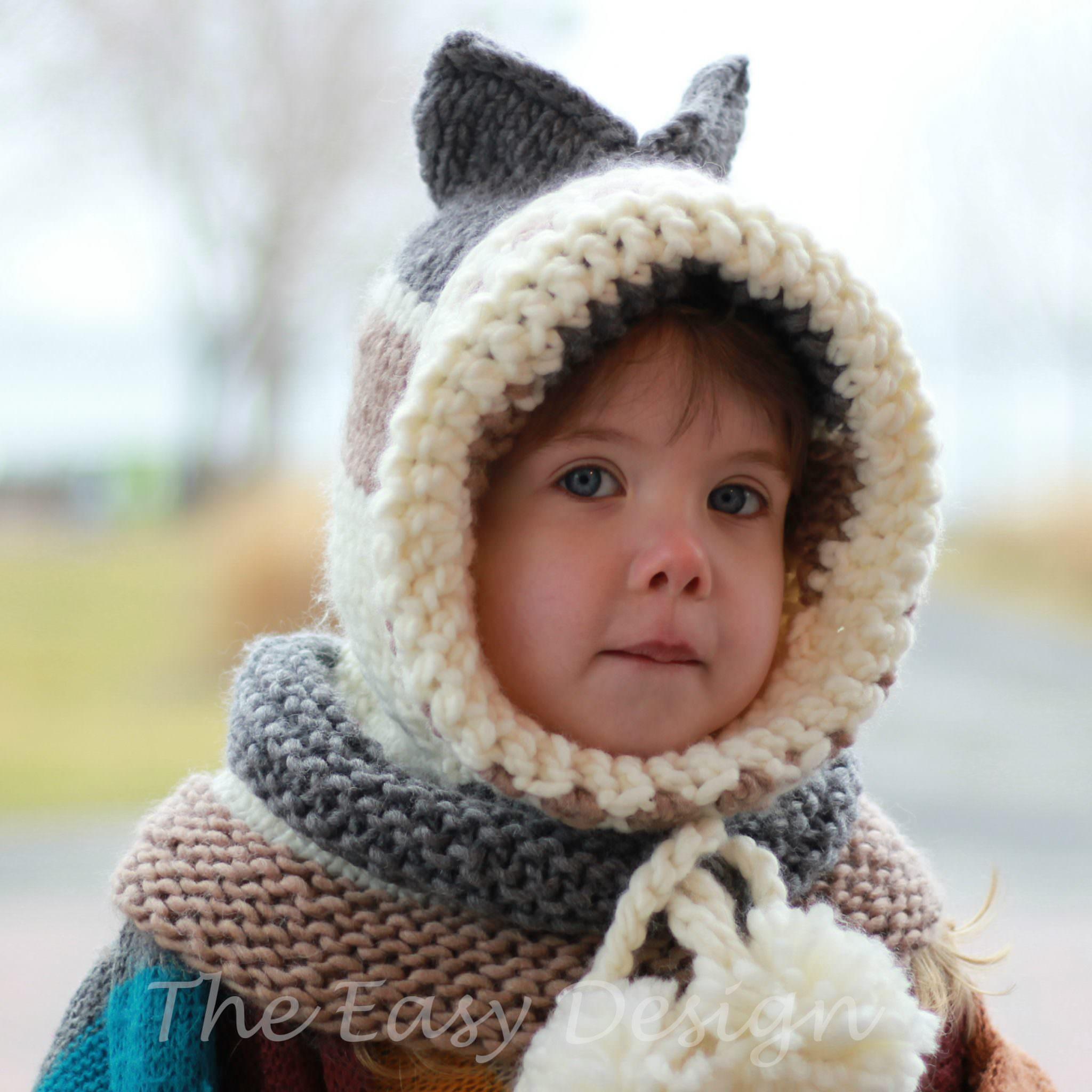 Karin Kitty Cat / Hooded Cowl - Knitting pattern - The Easy Design