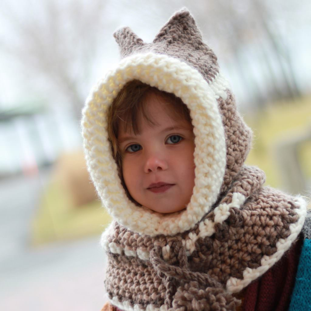 Casey Kitty Cat Hooded Cowl Crochet Pattern The Easy