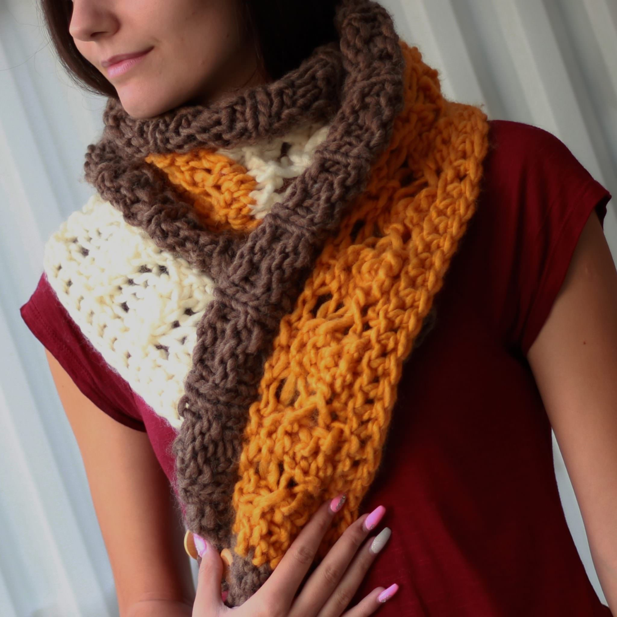 Melody scarf / infinity scarf - Knitting pattern - The ...