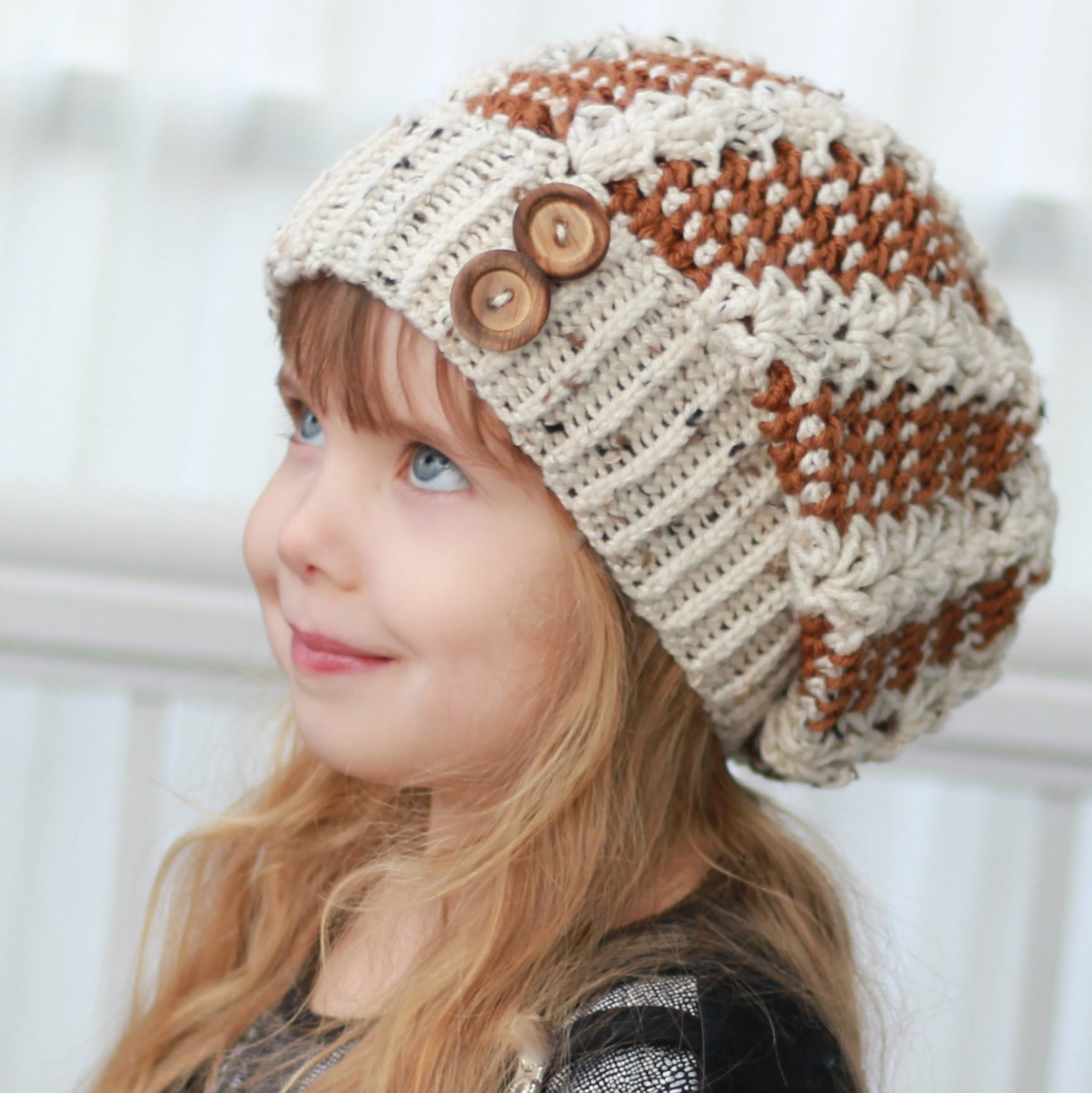 ALYSSIA   SLOUCHY HAT - CROCHET PATTERN - The Easy Design 19dfd5008db