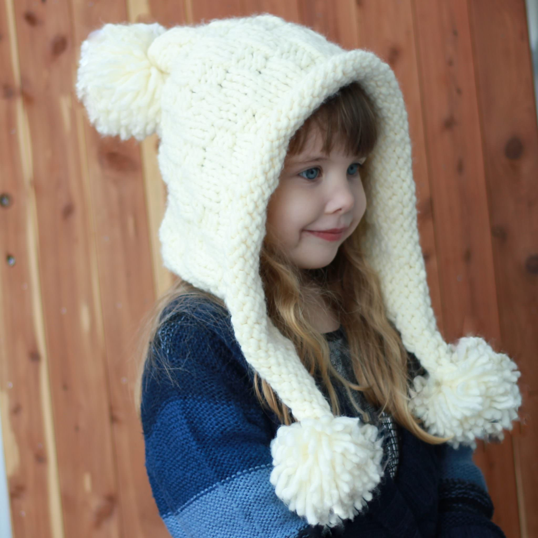 Braelynn Earflap Hat Knitting Pattern The Easy Design