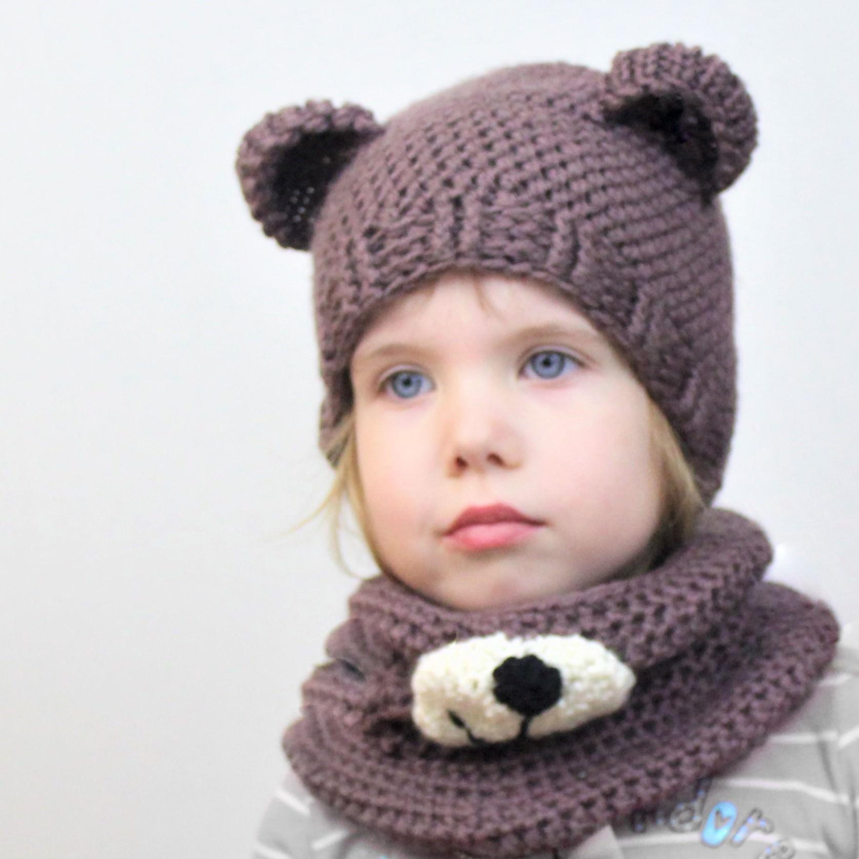 Blair Bear Set Hatcowl Crochet Pattern The Easy Design