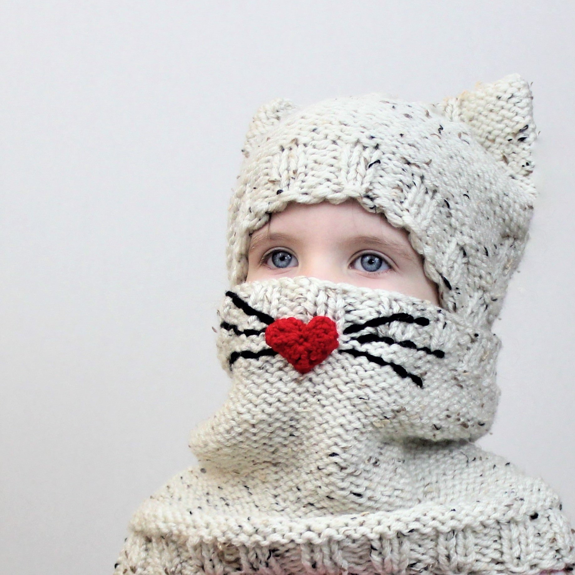 Cody CAT Set (hat+cowl) / Knitting pattern - The Easy Design