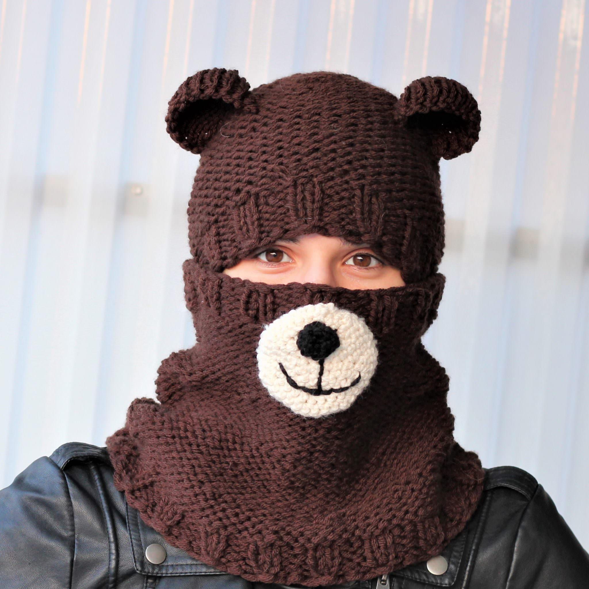 Bertie BEAR Set ( hat+cowl) / knitting pattern - The Easy Design
