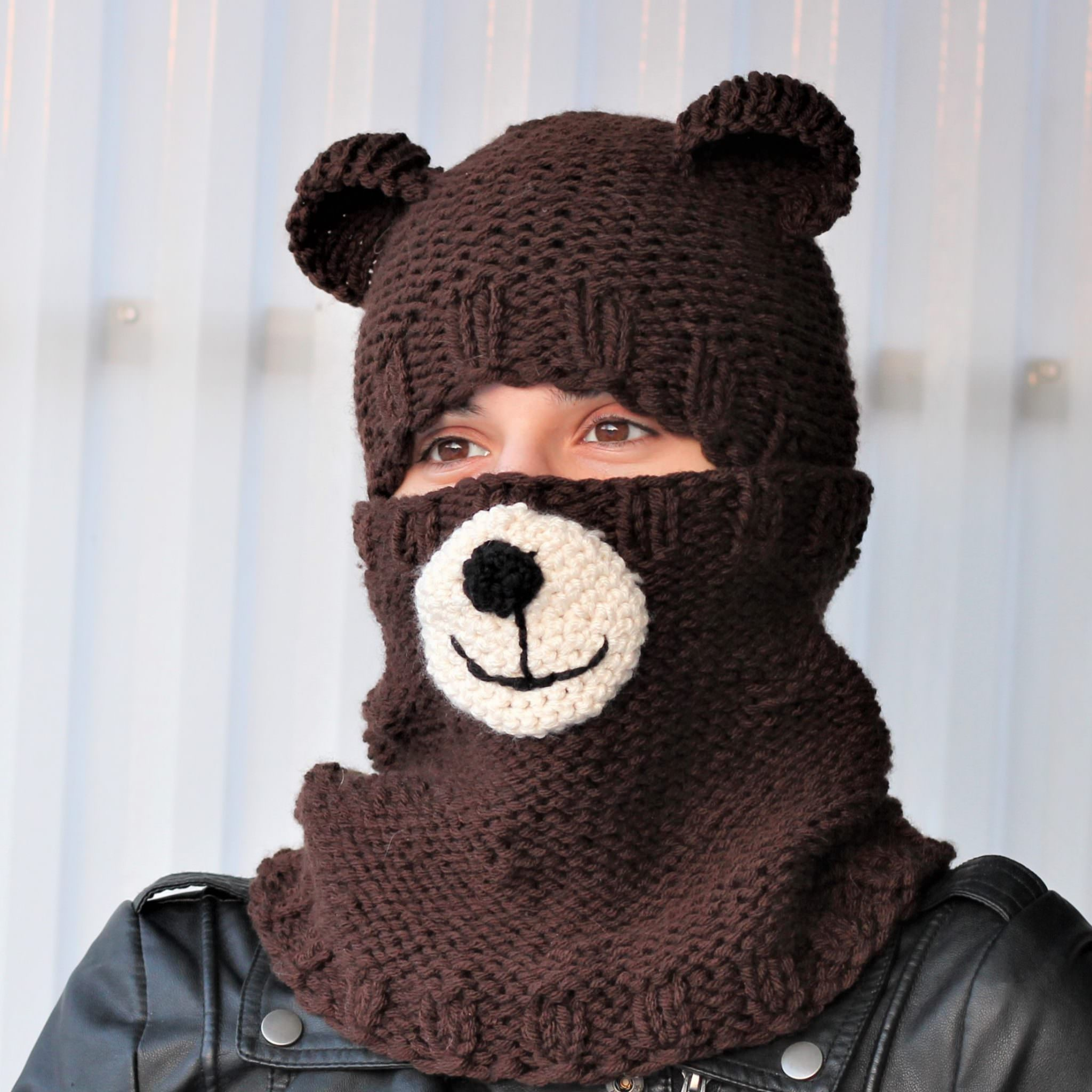 09dd021ac6c Bertie BEAR Set ( hat+cowl)   knitting pattern - The Easy Design