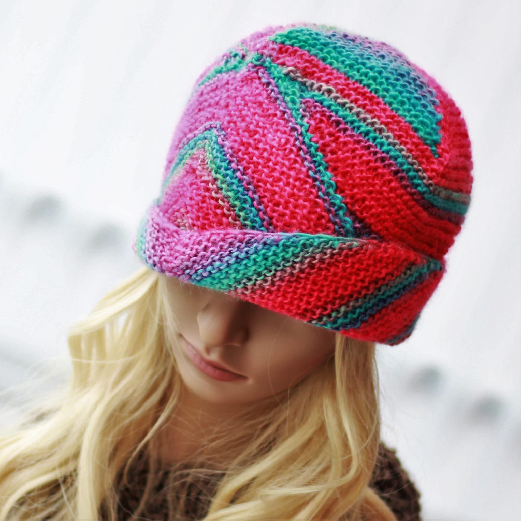 1ae7e905922 ALTERNATIVE Hat   Knitting pattern (12 18 month – Toddler – Child – Teen- Adult  sizes)   PDF